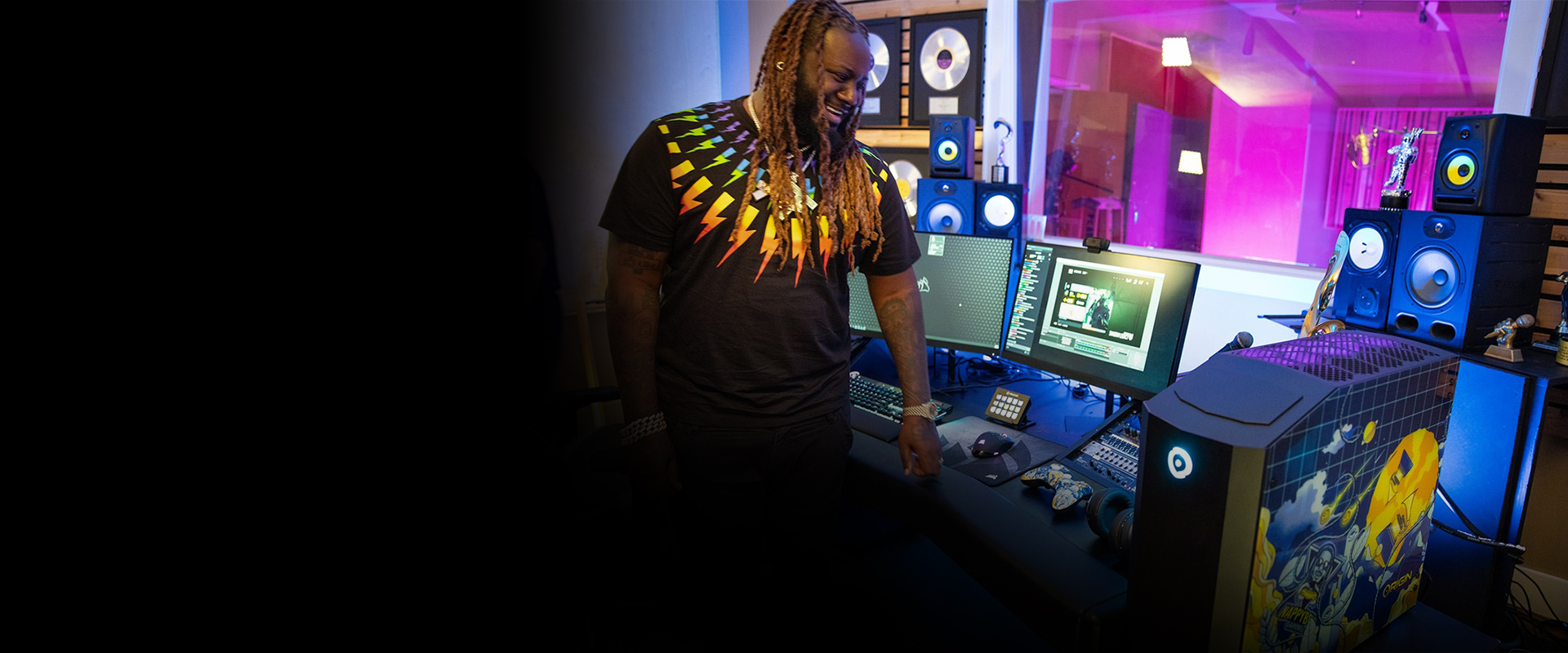 Check Out T-Pain's CORSAIR and ORIGIN PC Powered Gaming Space!