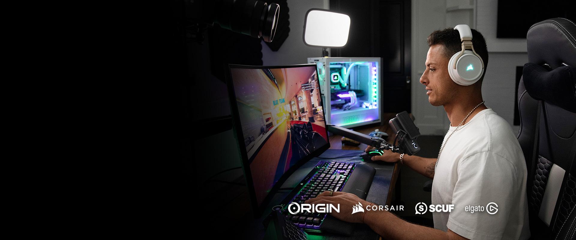 Chicharito + Origin PC + Corsair