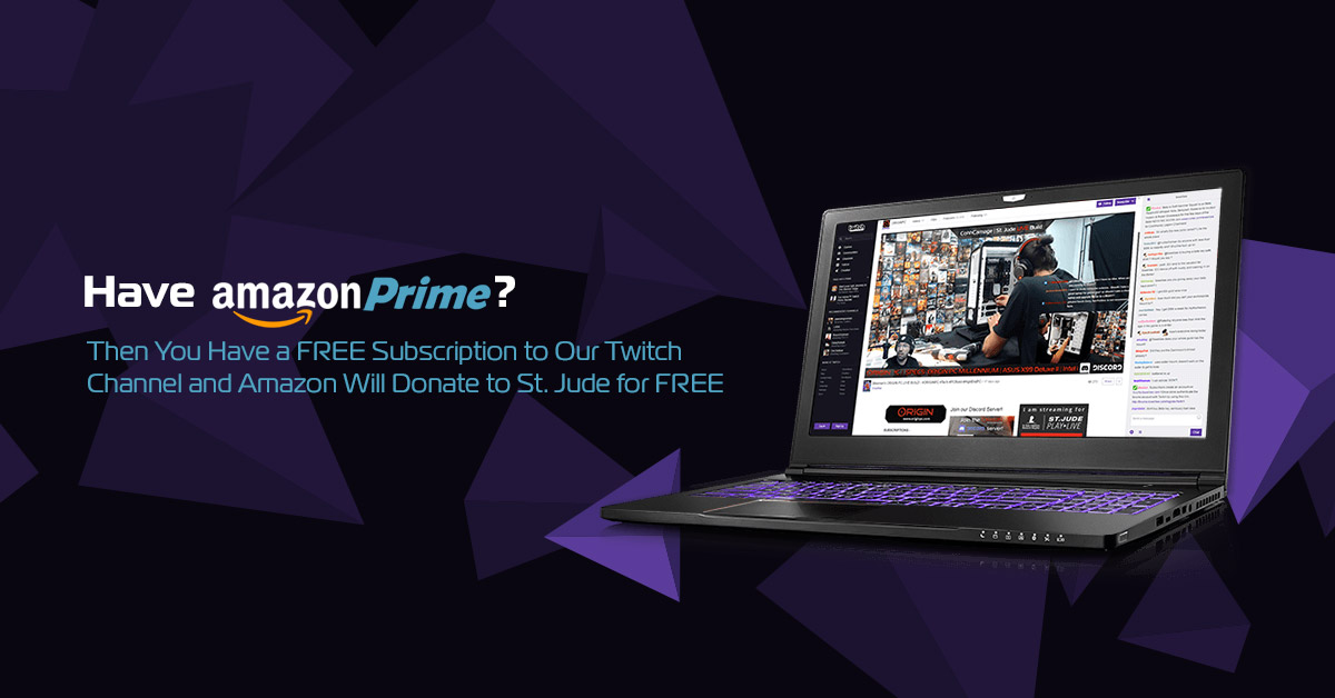 Twitch Subscription for Charity | ORIGIN PC