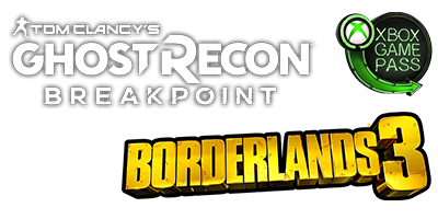 Ghost Reacon Breakpoint & Borderlands 3 logos