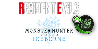 Resident Evil 3 and Monster Hunter World: Iceborne Master Edition logos
