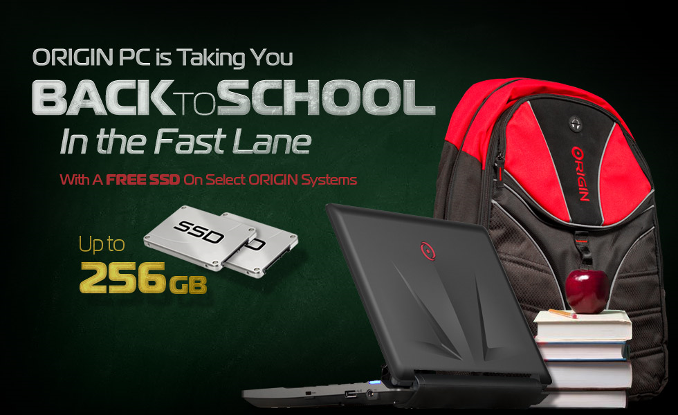 ORIGIN PC Takes You Back to School In The Fast Lane