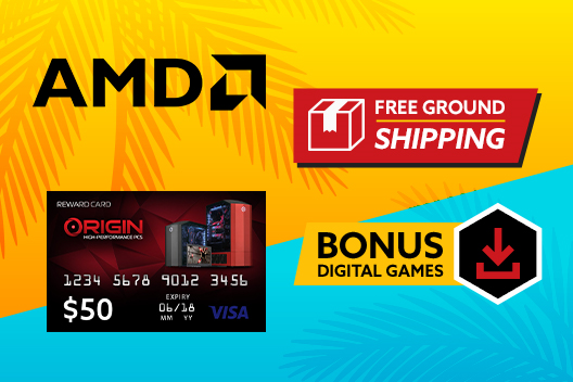 Free Shipping on All Desktops PLUS $50 Rewards Card with AMD Ryzen*