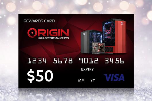 FREE $50 ORIGIN PC Visa Gift Card