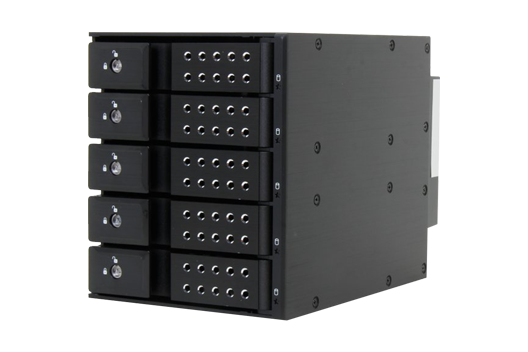 5 Bay Trayless Hot-Swap Cage (lockable)