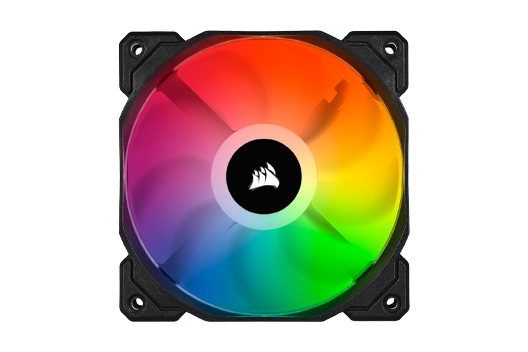 CORSAIR SP120 PRO Performance iCUE RGB controlled by iCUE software