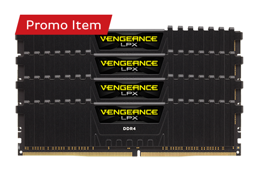 16GB CORSAIR VENGEANCE  3000MHz (4x4GB) *Free Automatic Upgrade to 32GB