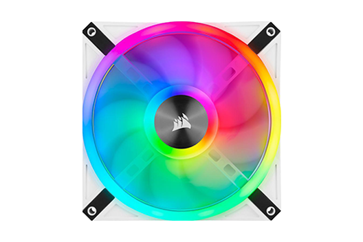 CORSAIR QL White Fans iCUE RGB controlled by iCUE software