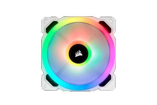 CORSAIR LL White iCUE RGB controlled by iCUE software