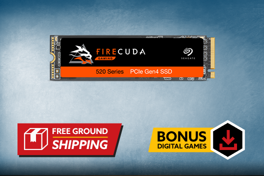 Free 500GB Seagate FireCuda 520 Plus Free Shipping - $200 Value
