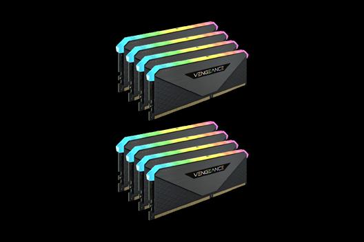 256GB CORSAIR VENGEANCE RGB RT 3200MHz (8x32GB)
