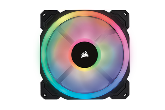 CORSAIR LL iCUE RGB controlled by iCUE software