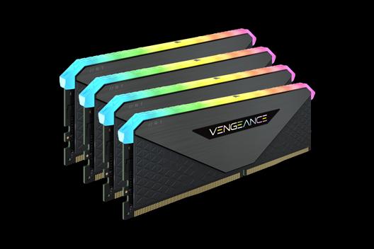 64GB CORSAIR VENGEANCE RGB RT DDR4 3200MHz (4x16GB)