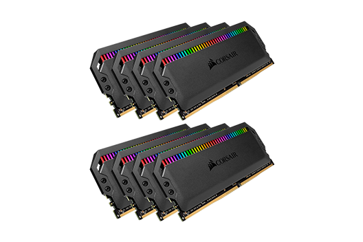 128GB CORSAIR DOMINATOR PLATINUM 3200MHz RGB (8x16GB)