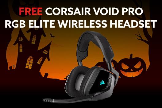 FREE CORSAIR Void Pro RGB Elite Wireless Headset ($100 Value)