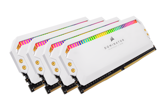 32GB CORSAIR DOMINATOR PLATINUM - WHITE 3200MHz RGB (4x8GB)