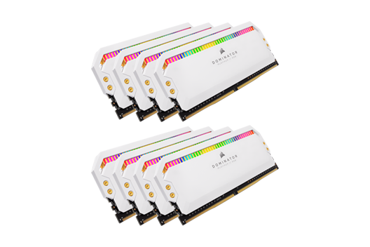 128GB CORSAIR DOMINATOR PLATINUM - WHITE 3200MHz RGB (8x16GB)