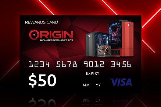 FREE $50 ORIGIN PC Visa Gift Card